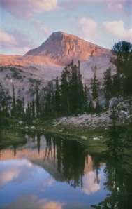 Eagle Cap Mountain, as seen from Mirror Lake. Photo by William Sullivan