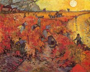 The Red Vineyard, by Vincent Van Gogh